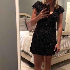 Black and White Polka Dot AE dress